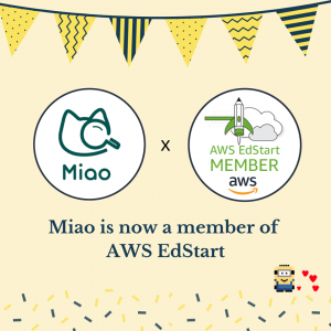 Miao has joined AWS EdStart