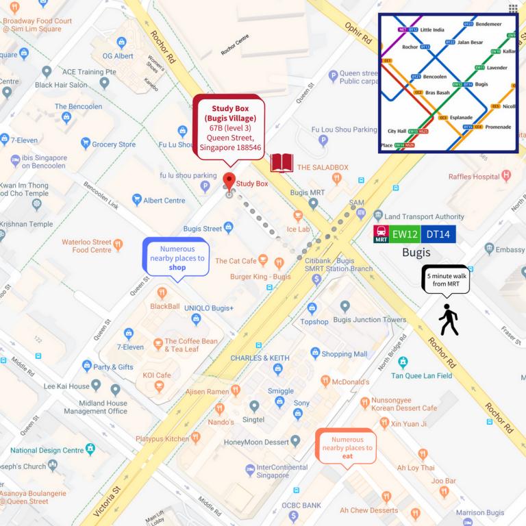Study Box map